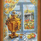 Материалы для творчества ручной работы. Ярмарка Мастеров - ручная работа Самовар. Набор для вышивания. Handmade.