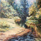 Картины и панно handmade. Livemaster - original item Oil painting landscape River in the close proximity of Impressionism. Handmade.