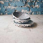 Посуда ручной работы. Ярмарка Мастеров - ручная работа тарелки с пупырками. Handmade.