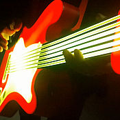 Музыкальные инструменты ручной работы. Ярмарка Мастеров - ручная работа Гитара светодиодная бутафорская. Handmade.