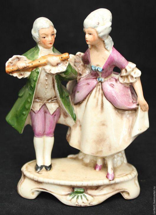 Винтажные предметы интерьера. Ярмарка Мастеров - ручная работа. Купить Пара кавалер с дамой фарфор статуэтка Германия 3. Handmade.