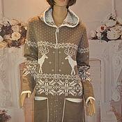 handmade. Livemaster - original item Knitted parka. Handmade.
