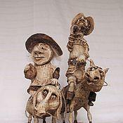 Куклы и игрушки ручной работы. Ярмарка Мастеров - ручная работа Дон Кихот и Санчо Панса. Handmade.
