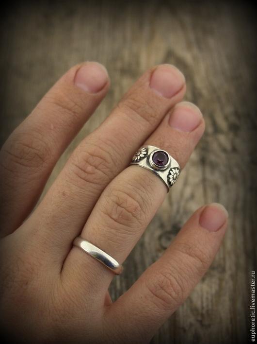 """Кольца ручной работы. Ярмарка Мастеров - ручная работа. Купить """"Индийская песня"""" серебряное кольцо на фалангу. Handmade. Серебряный, хиппи"""