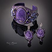 Украшения handmade. Livemaster - original item Purple bracelet with charoite. The color purple.. Handmade.