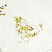 """Для дома и интерьера ручной работы. Ярмарка Мастеров - ручная работа Салфетка льняная """"Весна!"""". Handmade."""