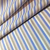 """Ткани ручной работы. Ярмарка Мастеров - ручная работа Ткань хлопок перкаль 100%для шитья и творчества """"Трехцветная полоска"""". Handmade."""