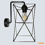 handmade. Livemaster - original item Stained glass wall lamp in the loft style. Handmade.