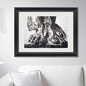 Картины и панно handmade. Livemaster - original item Black-and-white painting