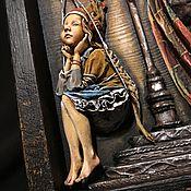 Картины и панно handmade. Livemaster - original item Paper mache, wood, About mouse knight. Handmade.