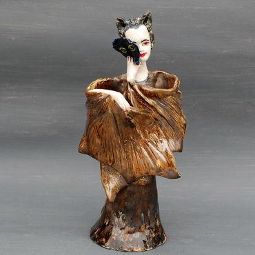 Для дома и интерьера ручной работы. Ярмарка Мастеров - ручная работа Летучая Мышь.Статуэтка колокольчик. Handmade.