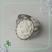 Субкультуры handmade. Livemaster - original item A ring with a cameo (rose). Handmade.