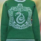 """Одежда ручной работы. Ярмарка Мастеров - ручная работа Тату-свитер - Факультет """"Слизерин""""(по мотивам к/ф о Гарри Поттере). Handmade."""