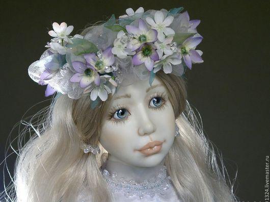 """Коллекционные куклы ручной работы. Ярмарка Мастеров - ручная работа. Купить Кукла """"Снегурочка"""". Handmade. Голубой, нежность, горный хрусталь"""