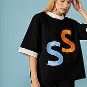 Одежда handmade. Livemaster - original item T-shirt made of thick cotton with embroidery. Handmade.