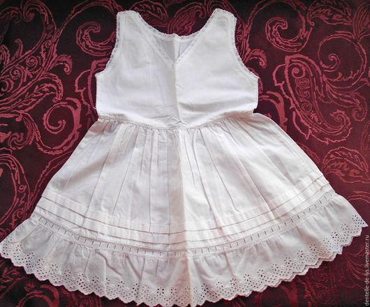 Одежда. Ярмарка Мастеров - ручная работа. Купить Старинное детское платье, сорочка, шитье, хлопок, Франция. Handmade. Старинное кружево