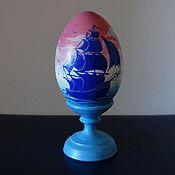 """Подарки к праздникам ручной работы. Ярмарка Мастеров - ручная работа Яйцо на подставке """"Рассвет на море"""". Handmade."""