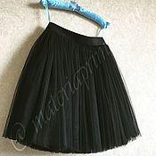 Одежда ручной работы. Ярмарка Мастеров - ручная работа Юбка -пачка , шопенка чёрная мини. Handmade.