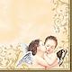 Декупаж и роспись ручной работы. Ярмарка Мастеров - ручная работа. Купить Ангелы, поцелуй (SLOG002701) - салфетка для декупажа. Handmade. Разноцветный