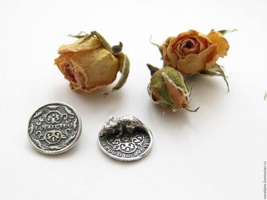 Миниатюрные модели ручной работы. Ярмарка Мастеров - ручная работа. Купить Мышь на монетке кошельковая сувенирная серебро 925. Handmade.
