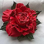 """Украшения ручной работы. Ярмарка Мастеров - ручная работа Брошь """"Красная роза - эмблема любви"""". Handmade."""