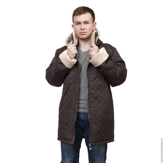 Верхняя одежда ручной работы. Ярмарка Мастеров - ручная работа. Купить КОМФОРТ Куртка мужская с капюшоном и воротником, шерсть  ламы. Handmade.