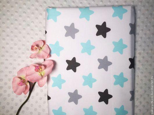 """Шитье ручной работы. Ярмарка Мастеров - ручная работа. Купить Ткань""""Звезды"""" сатин, 100% хлопок. Handmade. Хлопок, ткань"""