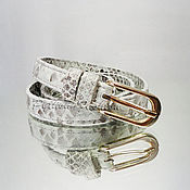 Аксессуары handmade. Livemaster - original item Women`s belt made of Python LIORNA. Handmade.