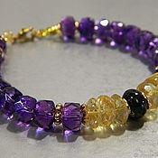 Украшения handmade. Livemaster - original item Bracelet Amethyst, Citrine, Spinel. Amulet for luck and wealth. Handmade.