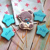 handmade. Livemaster - original item Gingerbread metrics with Teddy bear. Handmade.