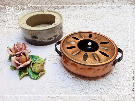 Винтажная посуда. Ярмарка Мастеров - ручная работа. Купить Винтажный подогреватель для чайника, Европа, 70-е. Handmade. Комбинированный