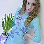 Одежда ручной работы. Ярмарка Мастеров - ручная работа Платье с рукавами Аукуба. Handmade.