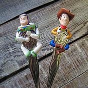 """Spoons handmade. Livemaster - original item Чайные ложки с декором """"История игрушек"""". Handmade."""