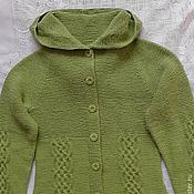 Одежда handmade. Livemaster - original item knitted jacket hooded. Handmade.