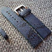 Аксессуары handmade. Livemaster - original item Blue watchband 20mm from Python i22mm. Handmade.