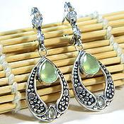 Украшения handmade. Livemaster - original item Chalcedony earrings, natural stone.. Handmade.