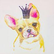 Материалы для творчества handmade. Livemaster - original item 544.  Napkin for decoupage Dog. Handmade.