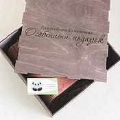 Сувениры и подарки ручной работы. Ярмарка Мастеров - ручная работа Коробка из фанеры, шкатулки из фанеры с логотипом,надписью. Handmade.