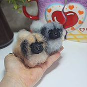 Куклы и игрушки handmade. Livemaster - original item Pekinese Dog miniature felted toy. Handmade.