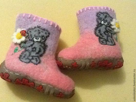 """Детская обувь ручной работы. Ярмарка Мастеров - ручная работа. Купить Валенки детские """"Мишка Тедди """". Handmade. Валенки"""
