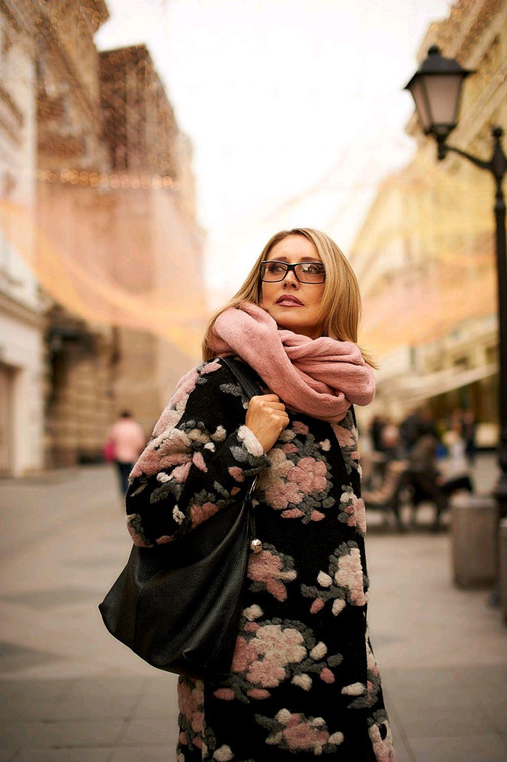 """Пальто оверсайз """"Розы"""", Пальто, Москва,  Фото №1"""