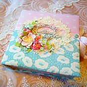 Фотоальбомы ручной работы. Ярмарка Мастеров - ручная работа Альбом ручной работы для девочки. Handmade.
