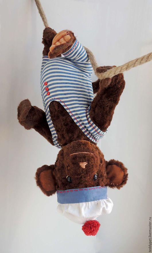 Мишки Тедди ручной работы. Ярмарка Мастеров - ручная работа. Купить Игрушка обезьяна плюшевая. Тедди обезьяна Вениамин.. Handmade.