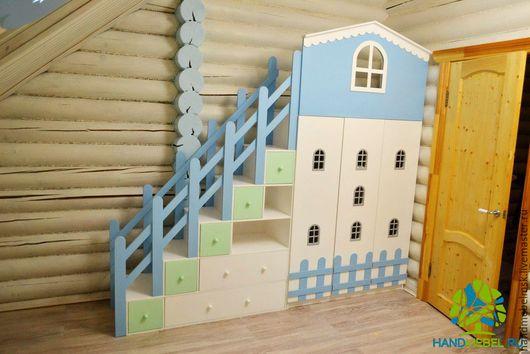 Детская ручной работы. Ярмарка Мастеров - ручная работа. Купить Детская комната. Handmade. Комбинированный, шкаф-домик, детская мебель