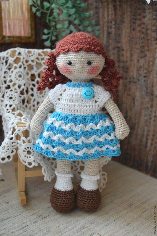 вязаная кукла, игровая кукла, кукла вязаная крючком