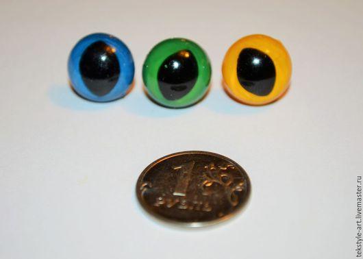 Куклы и игрушки ручной работы. Ярмарка Мастеров - ручная работа. Купить Глазки кошачьи разноцветные. Handmade. Разноцветный, зеленые глаза