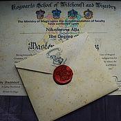 Сувениры и подарки handmade. Livemaster - original item Personalized diploma of graduation Hogwarts. Handmade.