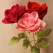 Цветы и флористика ручной работы. Ярмарка Мастеров - ручная работа Розы из фетра. Handmade.