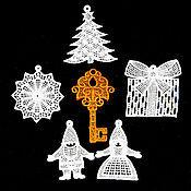 Подарки к праздникам handmade. Livemaster - original item Golden key. A set of Christmas ornaments.. Handmade.