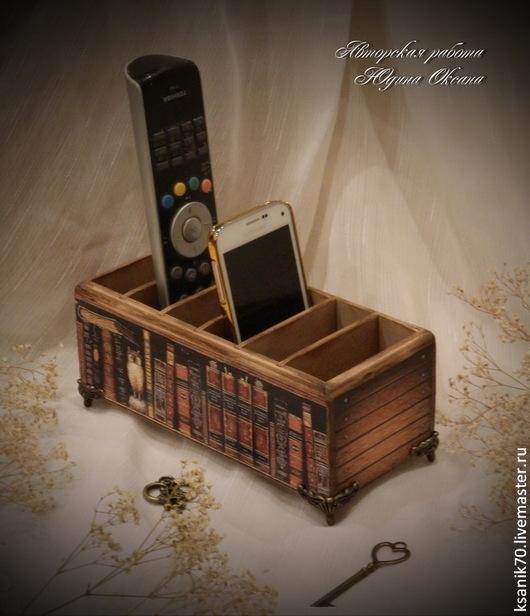 Подставка для пультов и мобильные `Старинные книги`.Ручная работа.Автор Юдина Оксана. Подставка интерьерная.